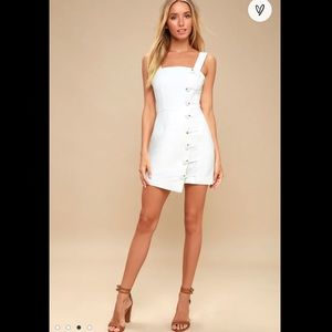 Mila Ivory Button-Front Mini Dress Finders Keepers